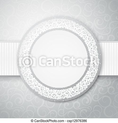 Floral circle frame. - csp12976386