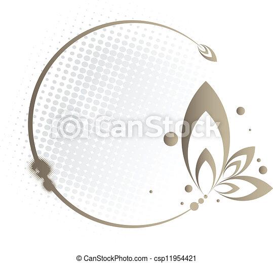Floral Circle Frame - csp11954421