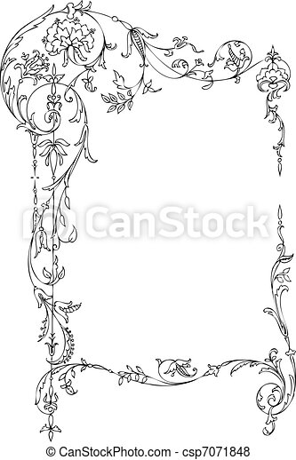 Floral Classic Frame - csp7071848