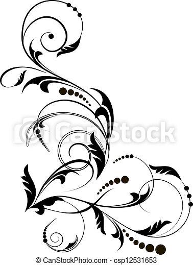 floral, coin - csp12531653
