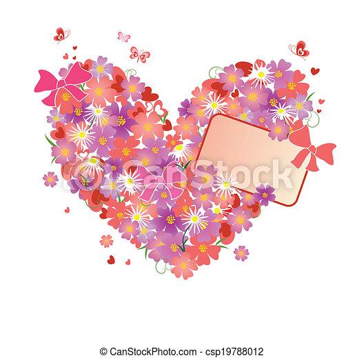 Un gran corazón floral - csp19788012