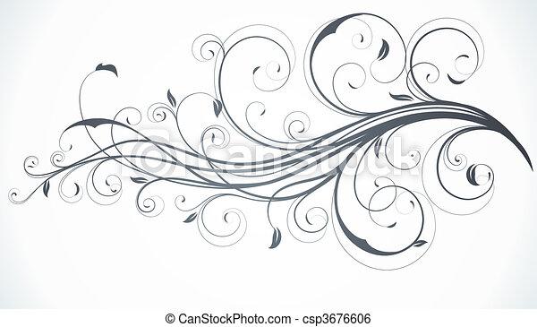 floral, decoratief, achtergrond - csp3676606