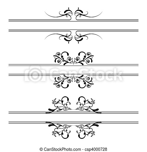 Floral decoration banner - csp4000728