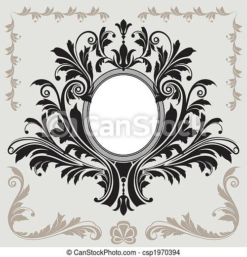 Floral Decoration Frame - csp1970394