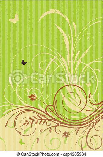 Floral Decorative background - csp4385384