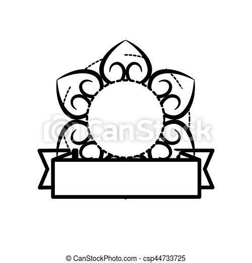 floral decorative frame banner vector illustration eps 10 rh canstockphoto com banner vector free download psd banner vector art free