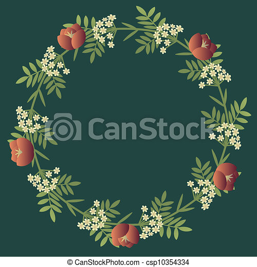 Floral decorative wreath - csp10354334