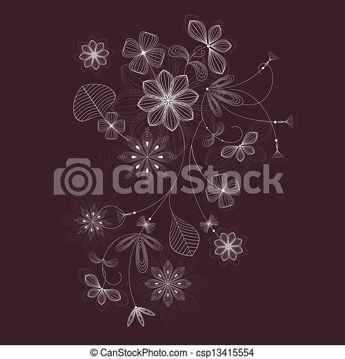 Floral design - csp13415554