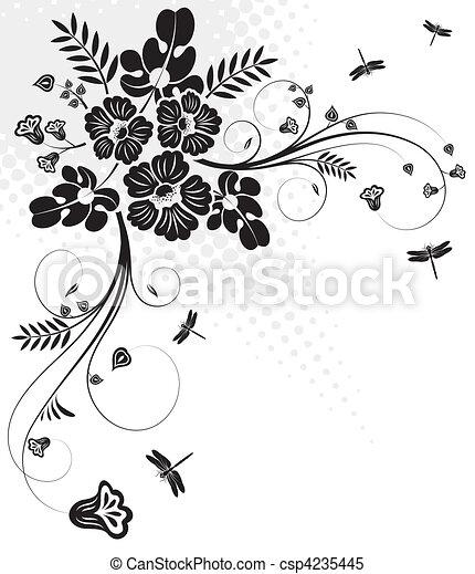 Floral design - csp4235445