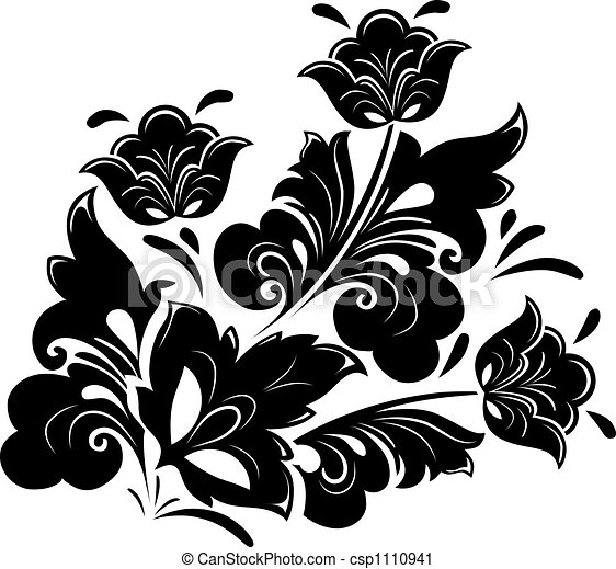 Floral design element - csp1110941