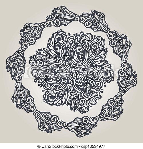 Floral design element vintage style - csp10534977