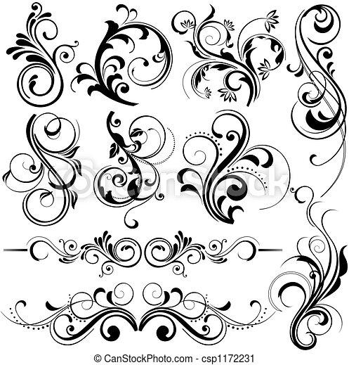 floral design elements - csp1172231