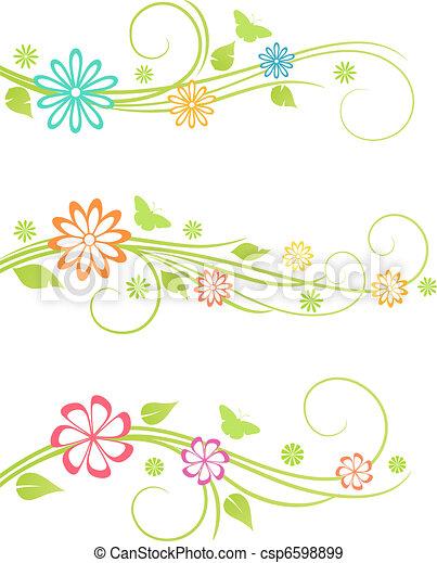 Floral design elements.  - csp6598899