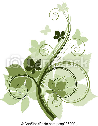 Floral design elements - csp3360901