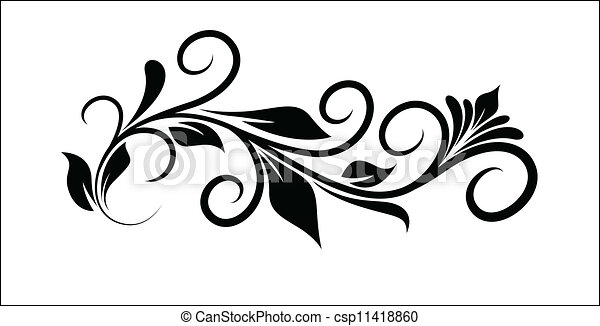 Floral Tribal Graphic Design Vector