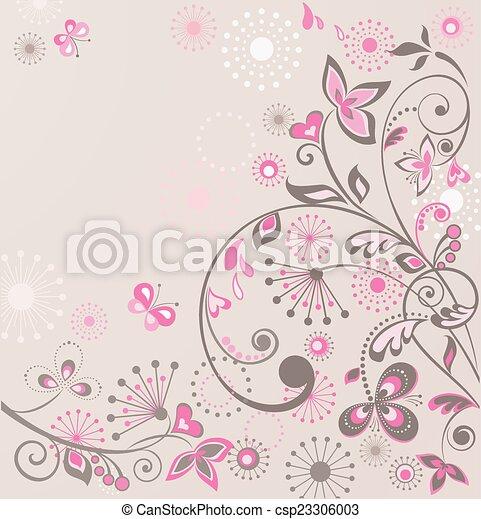 Floral design - csp23306003