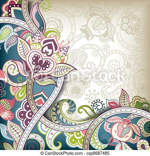 Fondo floral elegante - csp8687485