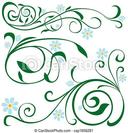Blumenelemente - csp1656281
