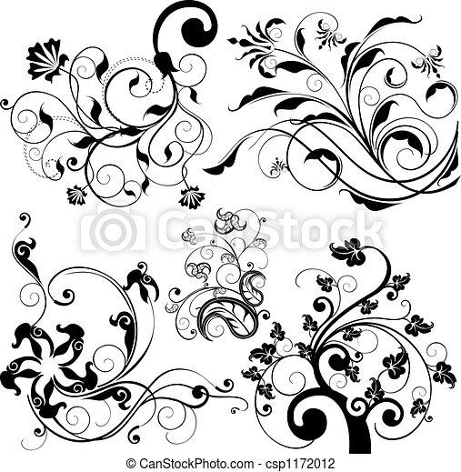 Blumendesign-Elemente - csp1172012