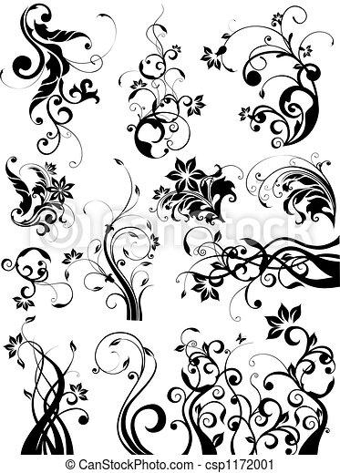 floral elemente, design - csp1172001