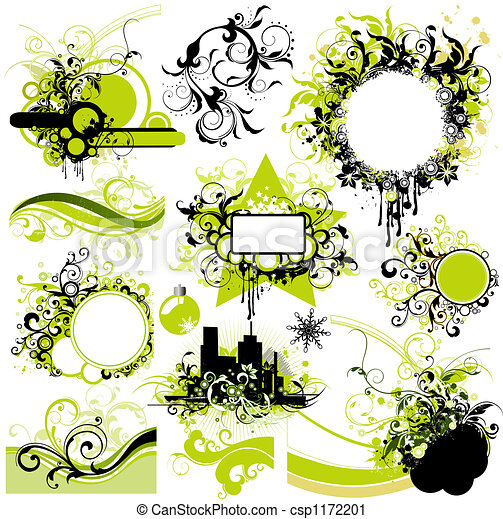 floral elemente, design - csp1172201