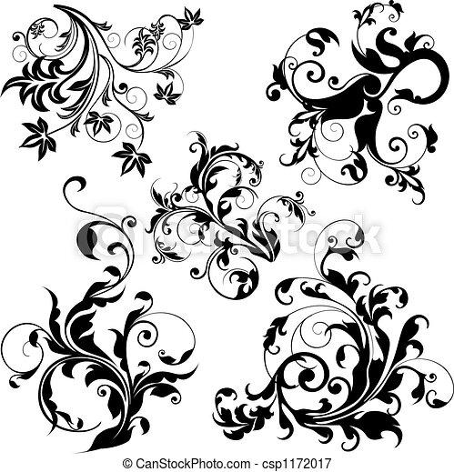 floral elemente, design - csp1172017