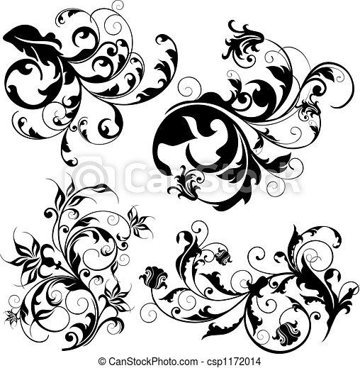 floral elemente, design - csp1172014
