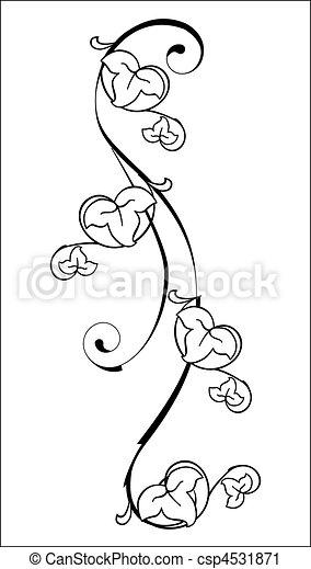 floral, elemento - csp4531871