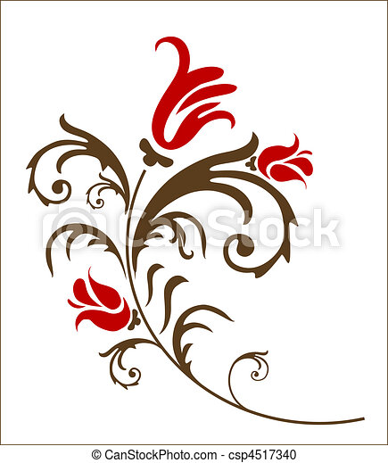 floral, elemento - csp4517340
