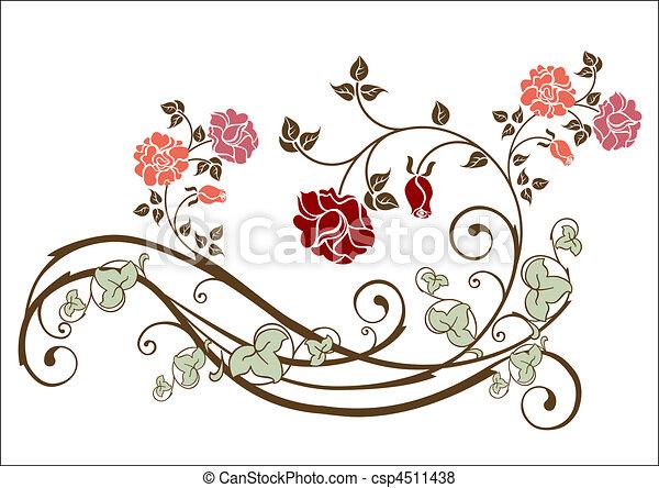 floral, elemento - csp4511438