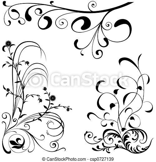 Floral elements A - csp0727139