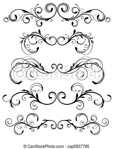 floral elements - csp5837795