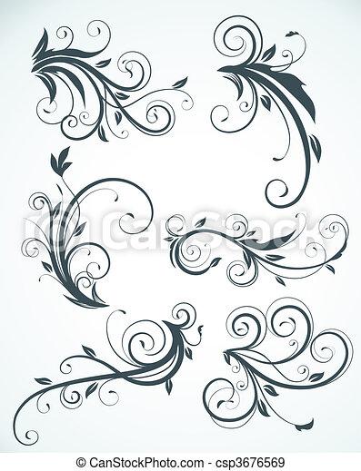 floral elements  - csp3676569