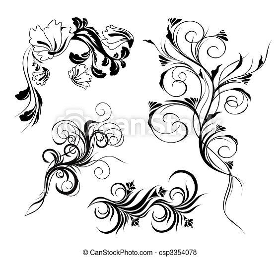 Floral elements - csp3354078