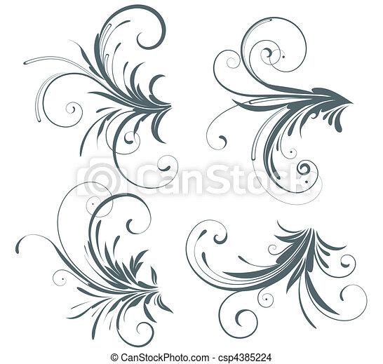 floral elements - csp4385224