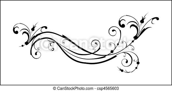 floral elements - csp4565603