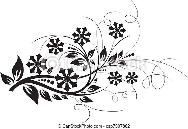 Floral elements for design, vector - csp7307862