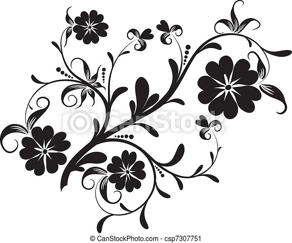 Floral elements for design, vector - csp7307751