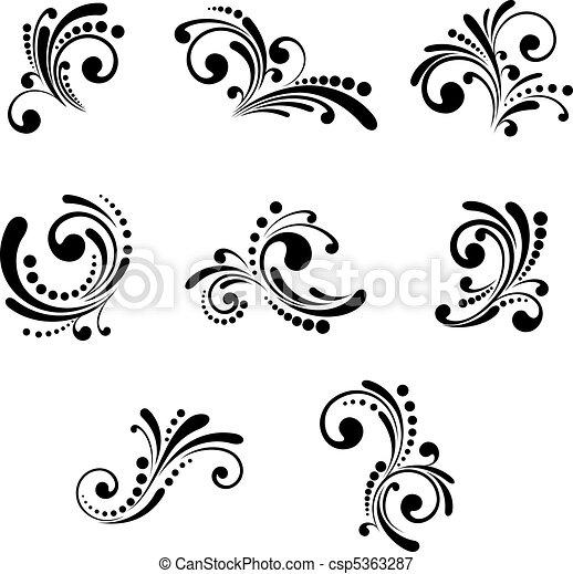 Floral elements - csp5363287