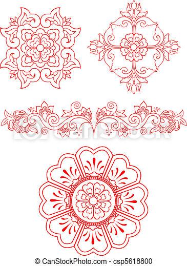 floral emblem design  - csp5618800