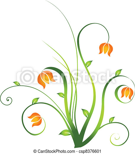 Floral Design Element - csp8376601