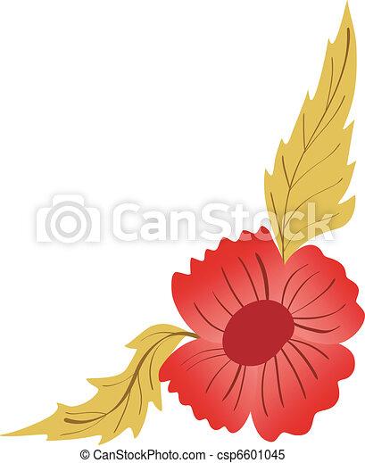 Diseño floral de esquina - csp6601045