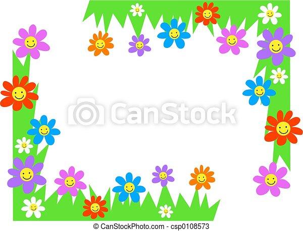 Esquina floral - csp0108573