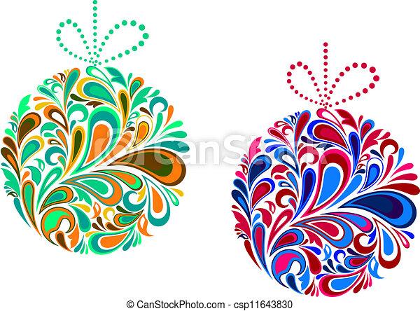 Vacaciones de Navidad al estilo floral - csp11643830
