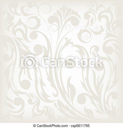 floral, experiência cinza - csp5611765