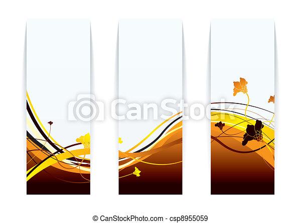 Floral fire paper - csp8955059