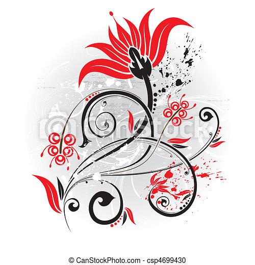 floral, fond - csp4699430