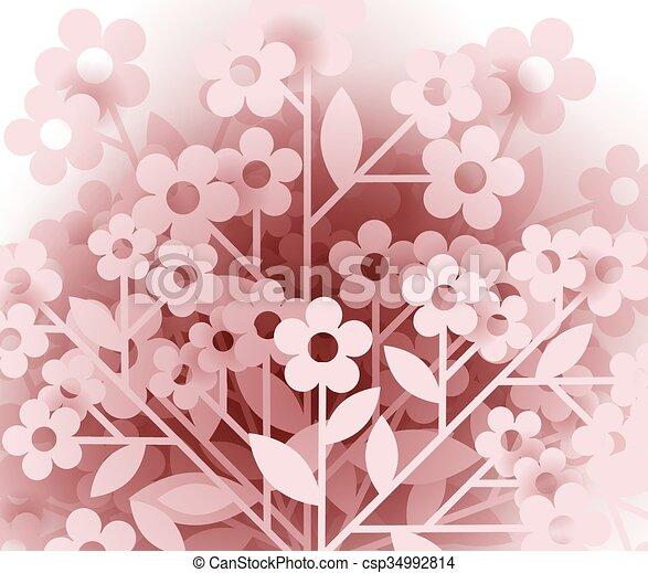 floral, fond - csp34992814