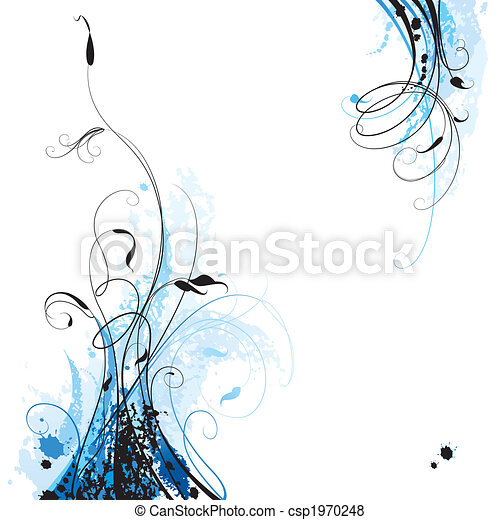 floral, fond - csp1970248