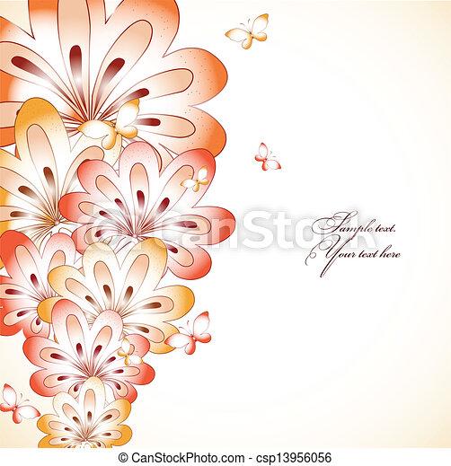 Antecedentes florales. Vector - csp13956056